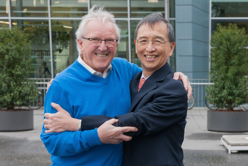 Professor Ho und Sebastian Gärtner Quer