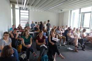 Großes Interesse herrschte beim Tag der offenen Tür, den die Studierenden des Studiengangs Interprofesionelle Gesundheitsversorgung veranstaltet hatten. Foto: privat