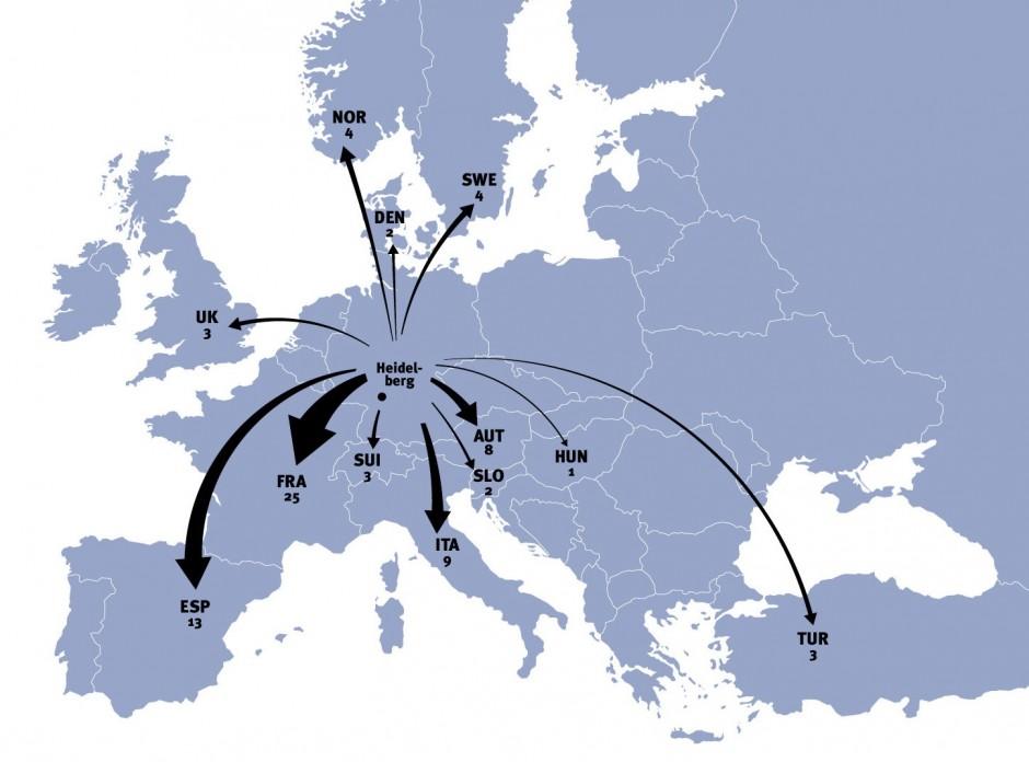 Europakarte Erasmus